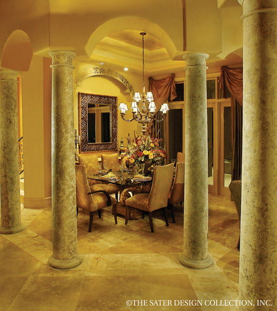 Ristano Home Plan Dining Room View #6939