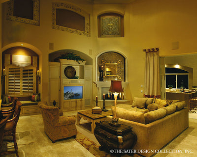 Ristano Home Plan Family Room View #6939
