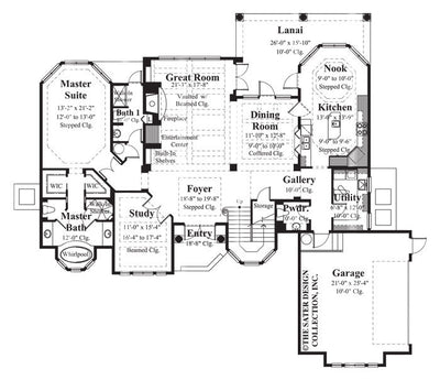 Raphaello Home-Main Level Floor Plan-Plan #8037