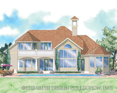 Raphaello Home-Rear Elevation-Plan #8037 by Sater Design