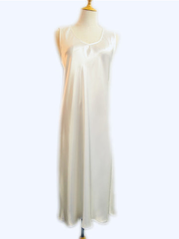 White Fleur Slip - No Embroidery, [product type], Lullaby New Zealand