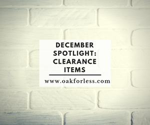 December Spotlight: Clearance Items