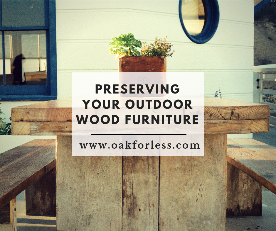 Preserving Your Outdoor Furniture