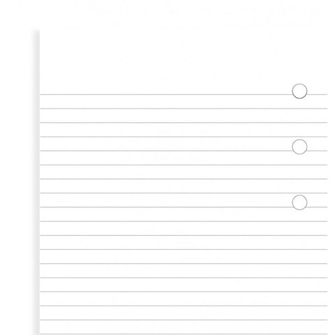 Filofax - Papers Ruled - White - Notepad - Personal Size