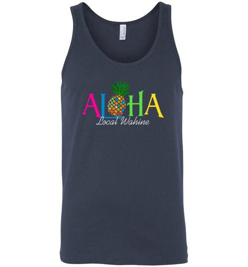 Bad Tuna T-shirt Co. LOCAL WAHINE ALOHA PINEAPPLE TANK TOP local wahine