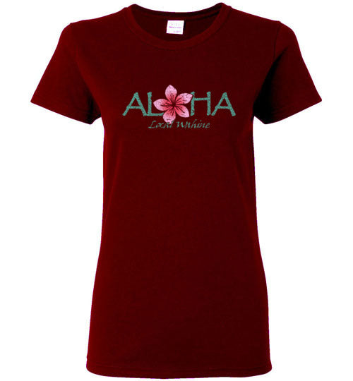 Bad Tuna T-shirt Co. LOCAL WAHINE ALOHA FLOWER T-SHIRT local wahine