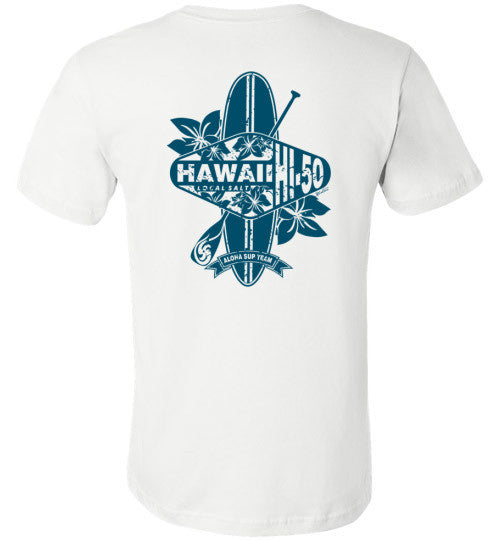 Bad Tuna T-shirt Co. HI-50 ALOHA SUP TEAM OF HAWAII T-SHIRT hi-50 local salt