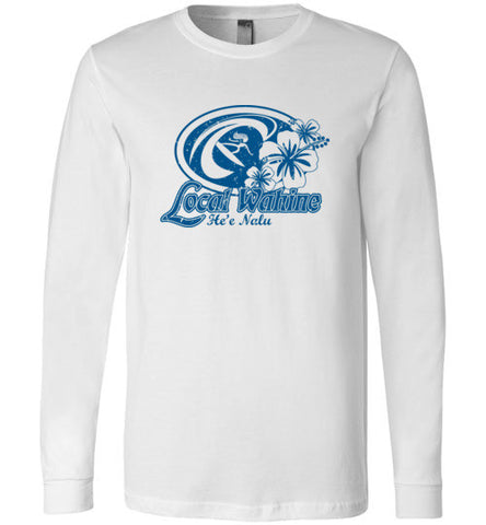 Bad Tuna T-shirt Co. HE'E NALU SURFER LONG SLEEVE T-SHIRT local wahine