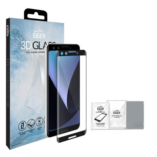 Eiger Screen Protection Eiger 3D GLASS Tempered Glass Screen Protector for Google Pixel 3 XL
