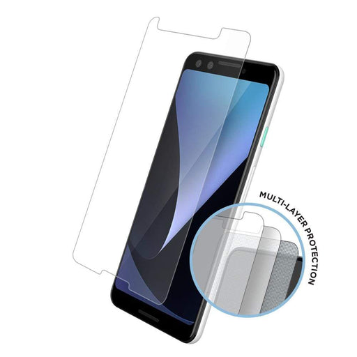 Eiger Screen Protection Eiger Tri Flex High-Impact Film Screen Protector (2 Pack) for Google Pixel 3 in Clear