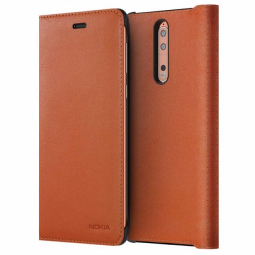 Nokia Cases Nokia CP-801 Leather Flip Wallet Case for Nokia 8 in Copper