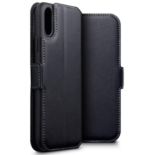 Terrapin Cases Terrapin Apple iPhone XR  Low Profile Genuine Leather Wallet Case - Black