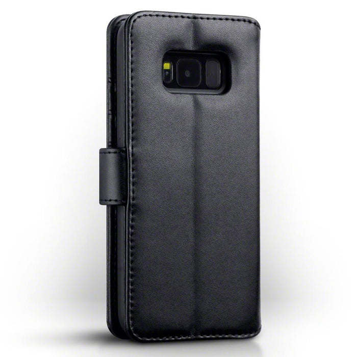 Terrapin Cases Terrapin Samsung Galaxy S8 Real Leather Wallet Case - Black
