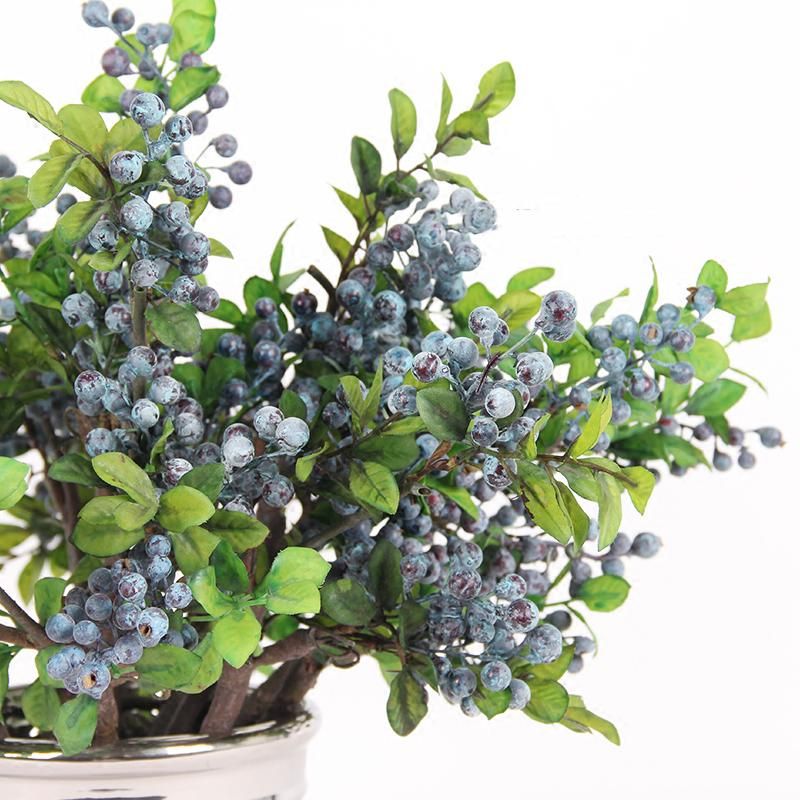 "Artificial Berry Stem in Blue 18"" Tall - G Home Collection"