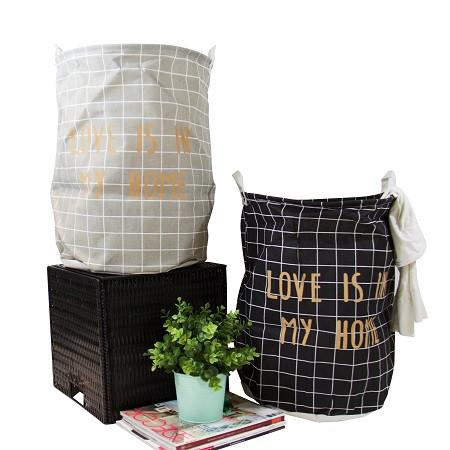Wire Fold Laundry Hamper White Anchor Logo