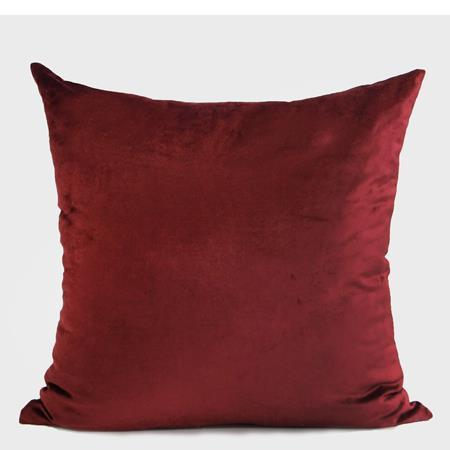 "Red Handmade Textured Frame Beaded Pillow 20""X20"" - G Home Collection"