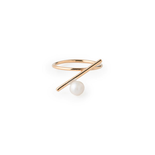 Ring with Pearl or Sphere