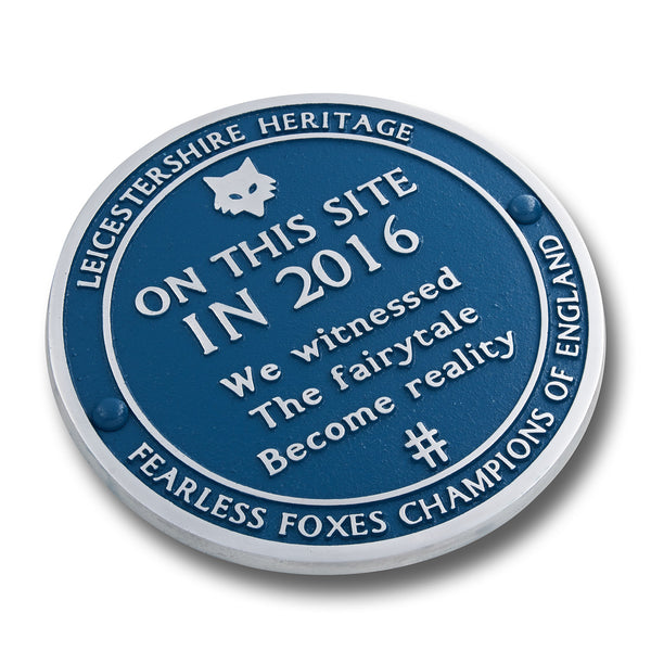 Leicester Champions Blue Plaque. Mark Where You Witnessed The Fairytale