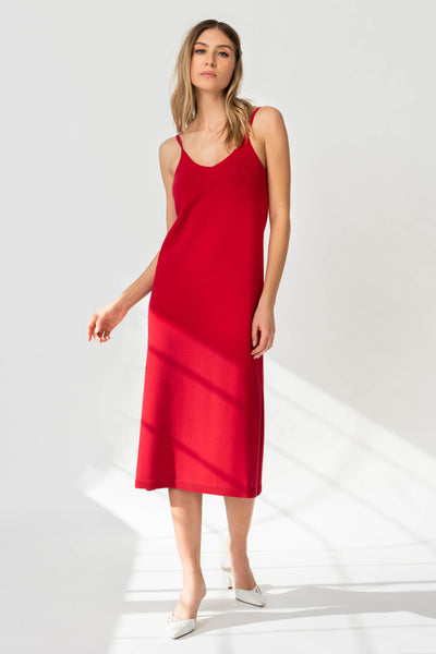 PETRA Dress in Apple Red