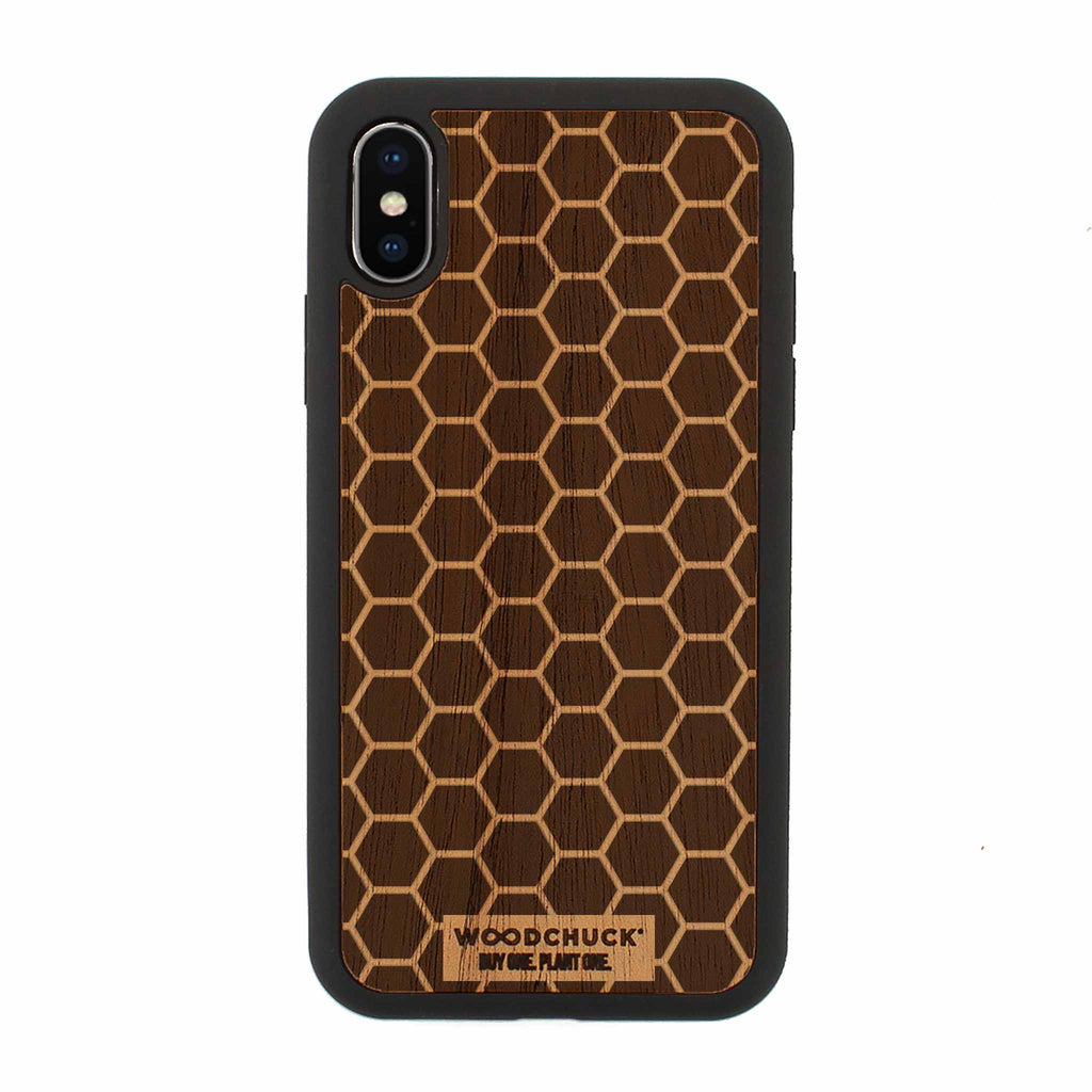 Honeycomb Real Wood iPhone Case