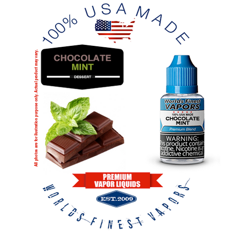 Chocolate Mint - wfvapors natural chocolate natural mint natural flavor vape ejuice vapor juice eliquid liquid American made
