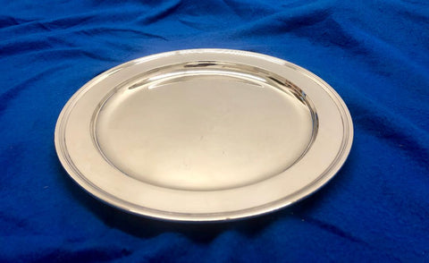 Antique Tiffany & Co. Silver-Plated Serving Plate 33oz Circa 1920 $10K Apr Value