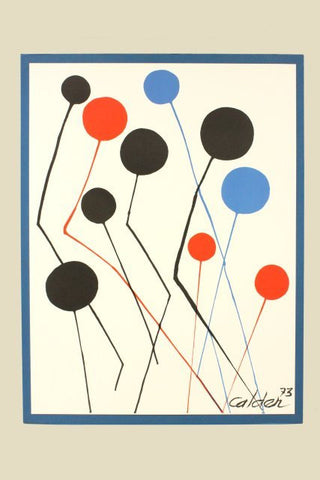 ALEXANDER CALDER BALLOONS Mint Litho  sign & dated '73 w Orig. COA Est $5K Val!