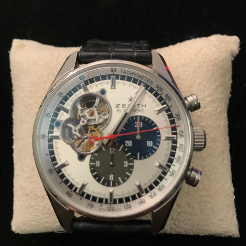 Zenith El Primero Automatic Master Chrono SS Men's Watch w/COA $15k Apr. Val.