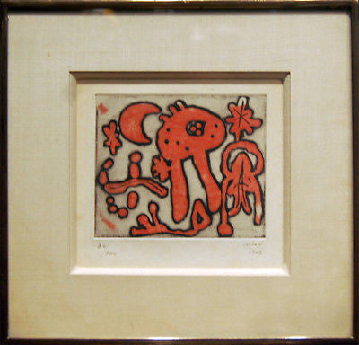 Original Limited Edition Etching by Surrealist Artist Joan Miro circa 1947- $60K VALUE