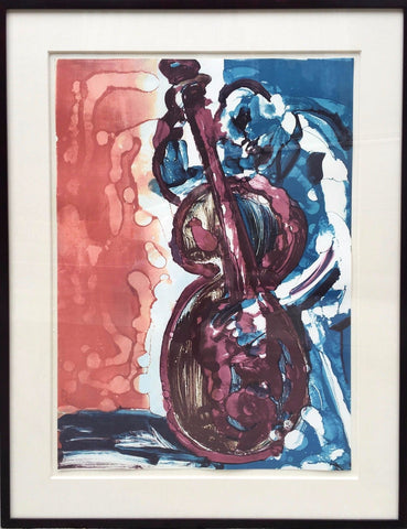 "Limited Edition Romare Bearden ""Walking Bass"" Lithograph Jazz Series C.1979 -$15690 VALUE"