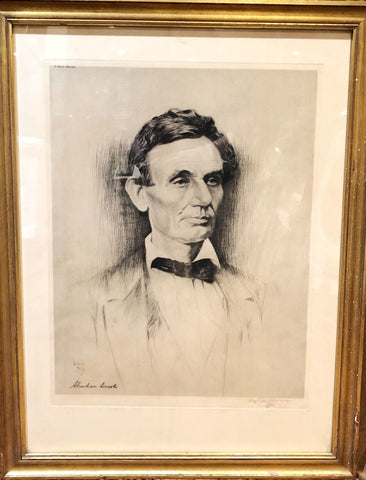Abraham Lincoln,Original Lithograph Artist Proof by Haydon Jones, w/COA, App$15k