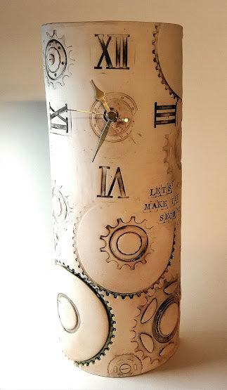 Large Upright Curved Quirky Clock