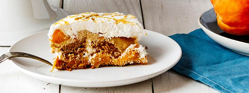 Spiced Peach Ice Box Cake