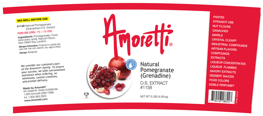 Pomegranate (Grenadine) Extract Oil Soluble (natural flavor)