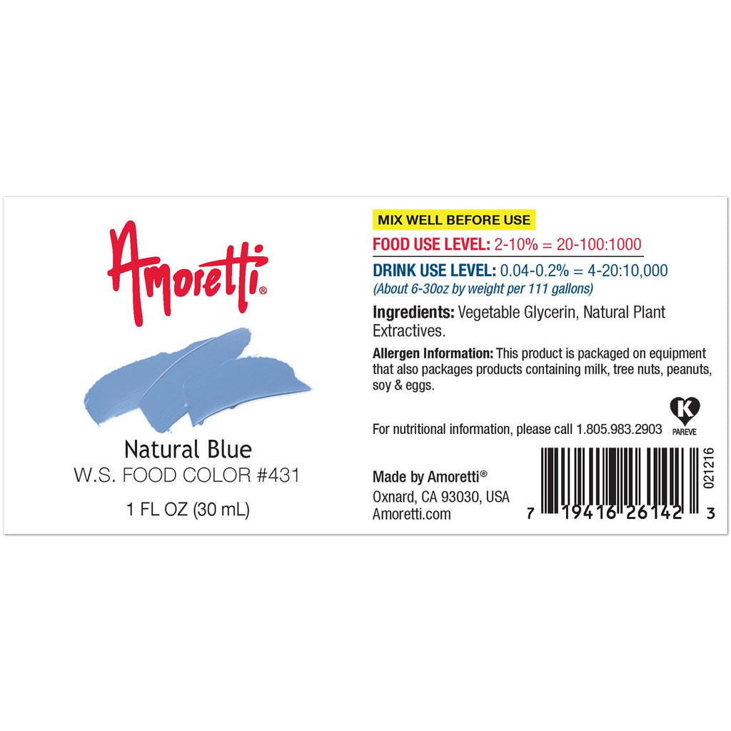 Natural Blue Food Color Water Soluble