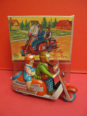 MARUSAN BABY SCOOTER MOTORCYCLE 1950 mint condition + box !
