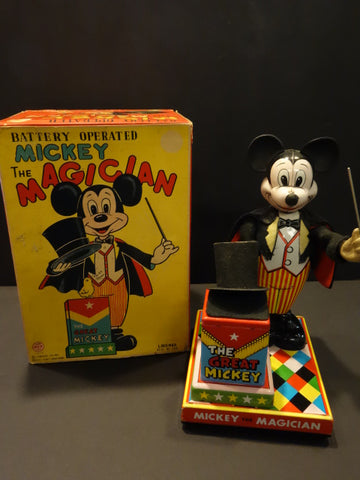 LINEMAR Mickey The Magician + Original Box 1960