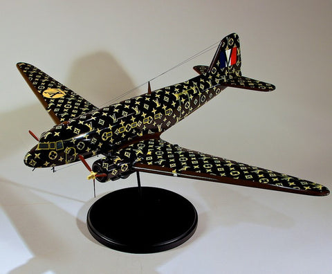 VUITTON LV EXTRA LARGE WOODEN PLANE DC3 Shop display