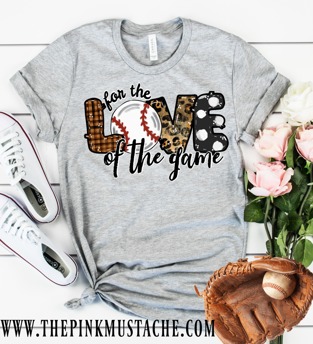 Handpainted Design Baseball For The Love Of The Game T-Shirt / Baseball Mom Tee/ T-Ball Shirt/ Gifts For Her/ SALE / Baseball Fan T-Shirt