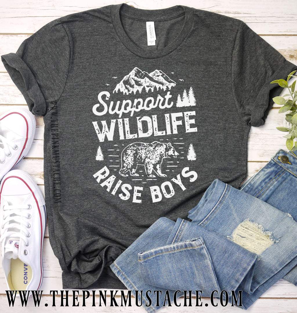 Support Wildlife Raise Boys Tee / Mother's Day Tee