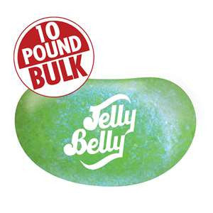 Jelly Belly Jewel Sour Apple Jelly Beans - 10 lb Bulk Case