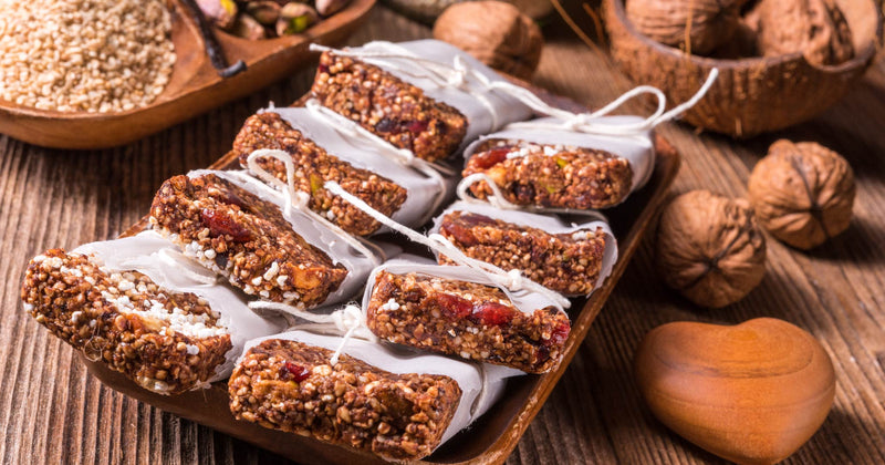 A Snack for your Hiking Backpack - Cashew-Goji Berry Bars