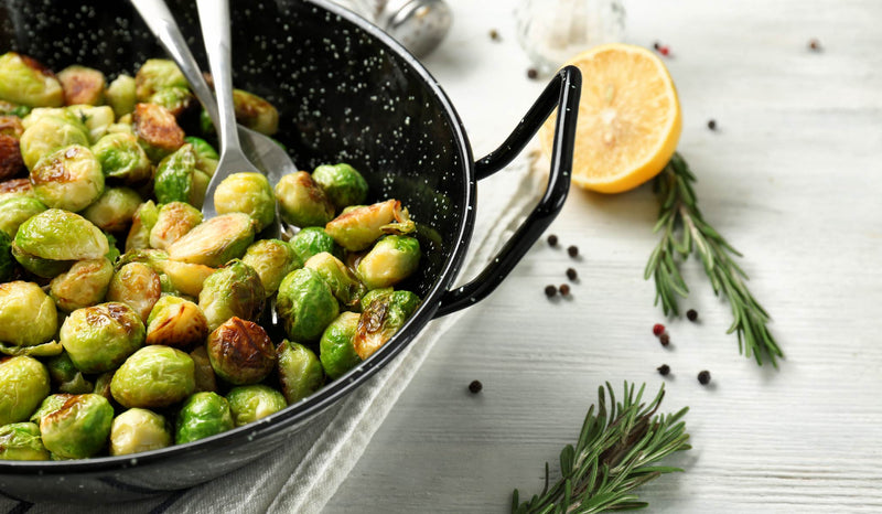 Roasted Brussel Sprouts with Goji Berries