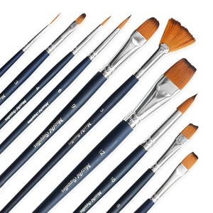 10 pcs Watercolor Paint Brush Set
