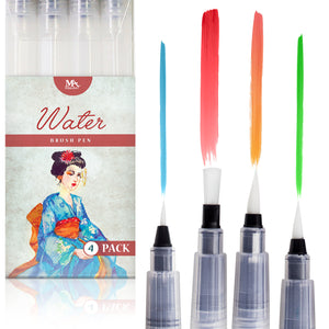 Water Brush Pen Set - 6 pcs