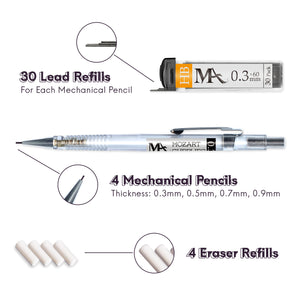 Essential Mechanical Pencil Set (4 sizes)