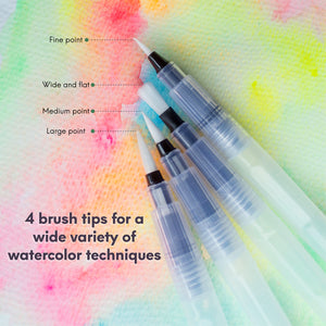Water Brush Pen Set - 4 pcs