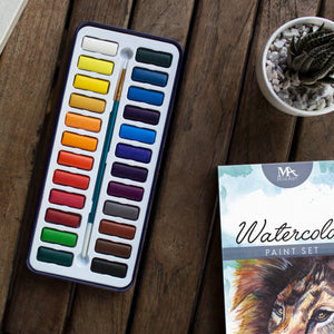 Watercolor Paint Set (24 Colors)