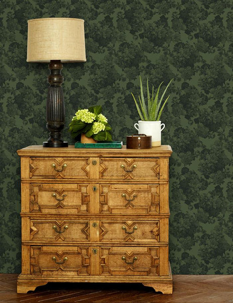 Barbara Ann Wallpaper - Green - Wallshoppe
