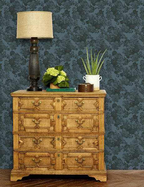 Barbara Ann Removable Wallpaper - Gray - Wallshoppe